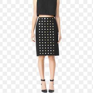 Kate spade metallic dot pencil skirt